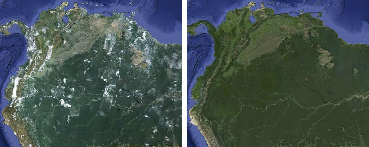 Google maps satellite imagery amazingly improved google chrome google maps cloudless gumiabroncs Gallery