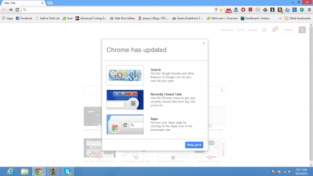 chrome update 1