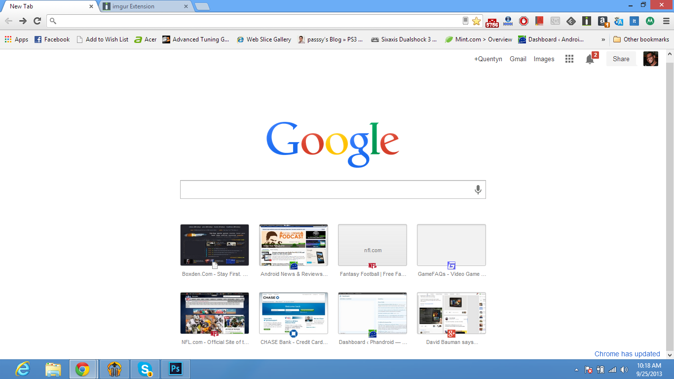 Chrome update puts search bar front and center google chrome news it also seems a bit redundant though because now there is an app drawer in the new google bar what are you doing google chrome update 2 ccuart Choice Image