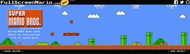 full screen mario 1