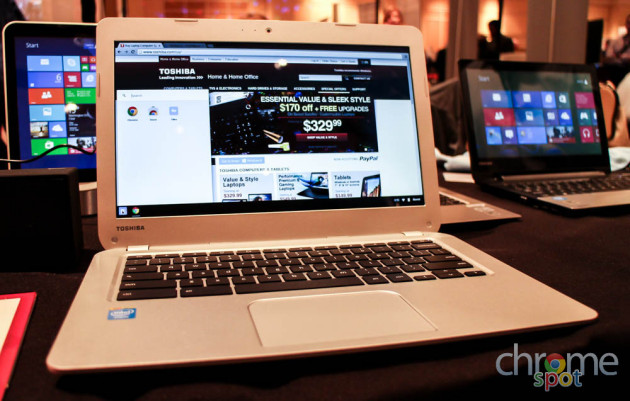 Hands-on: Toshiba Chromebook [VIDEO]