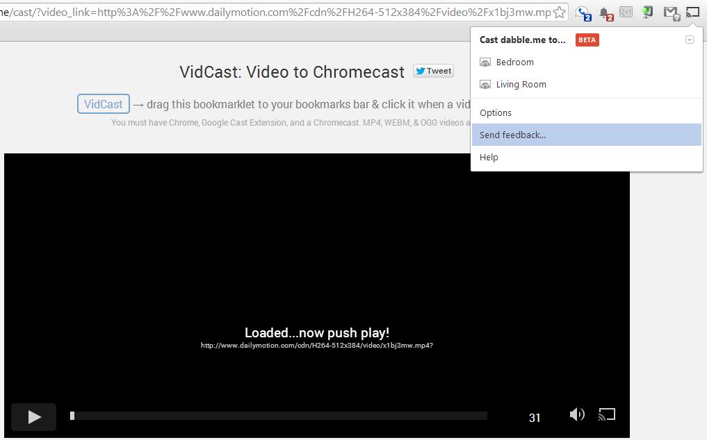Send Web Videos to Chromecast with VidCast Bookmarklet | Google