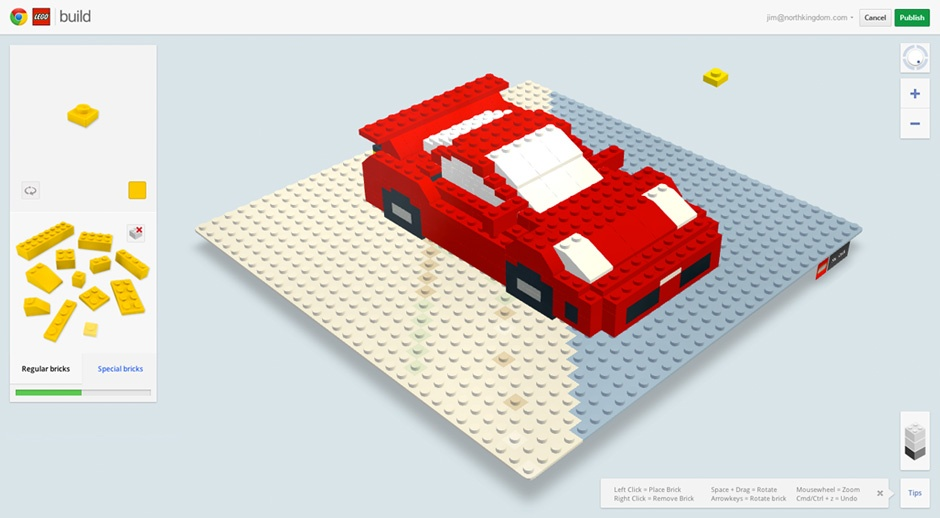 What are the best lego creations from build with chrome for Building builder online